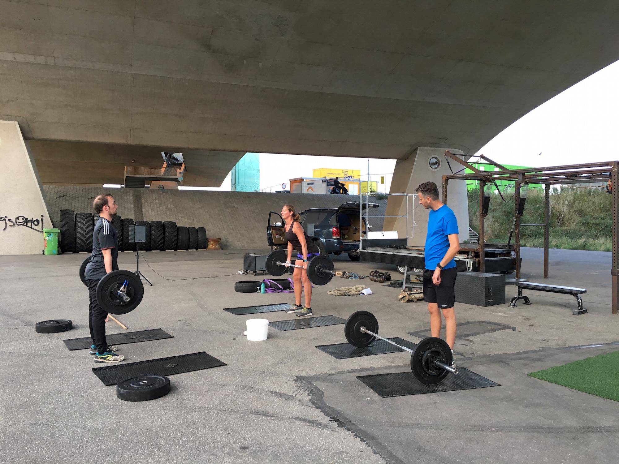 Krachttraining bij NYMA Outdoor Gym