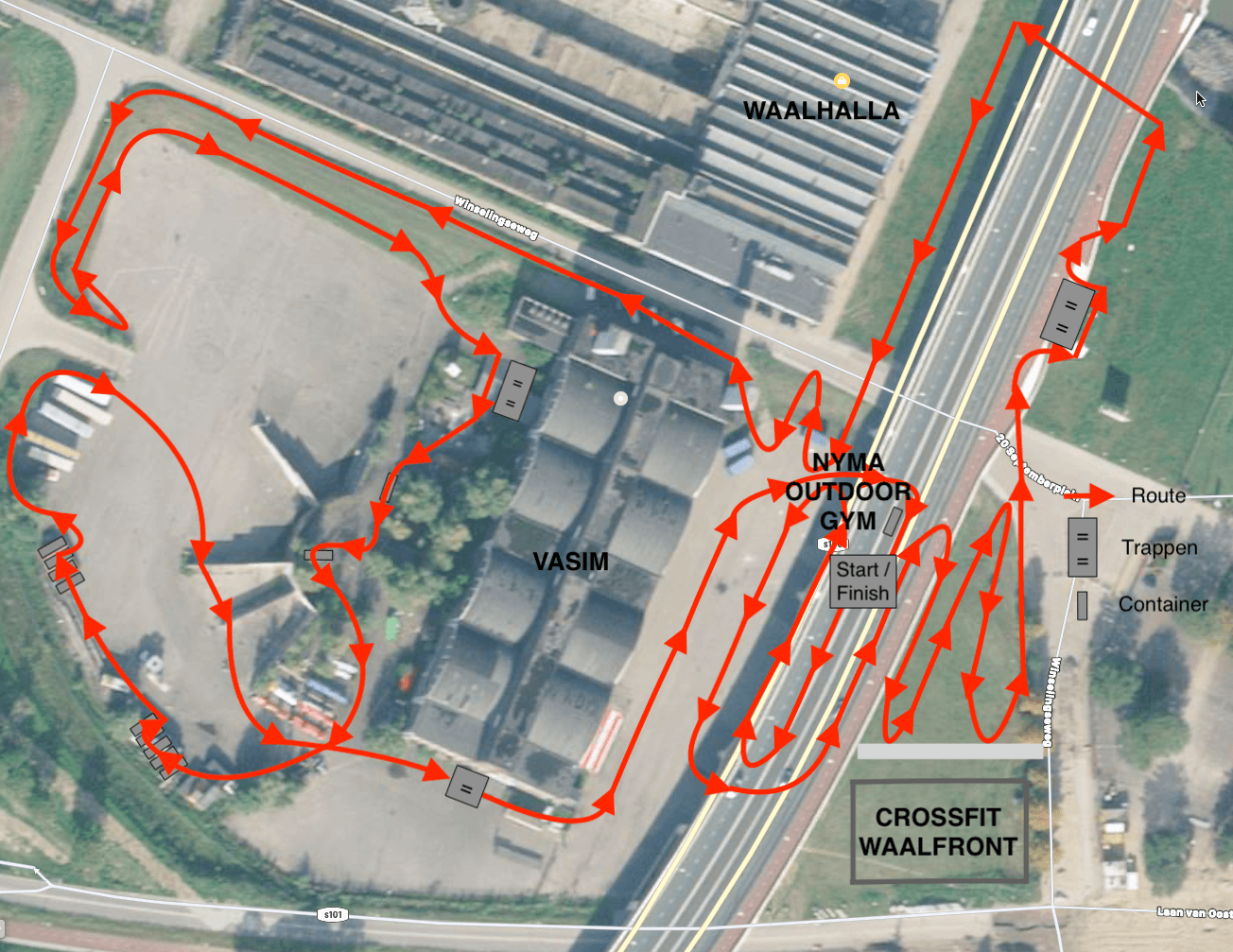 NYMA - OBSTACLE RUN TRAINING - ROUTE