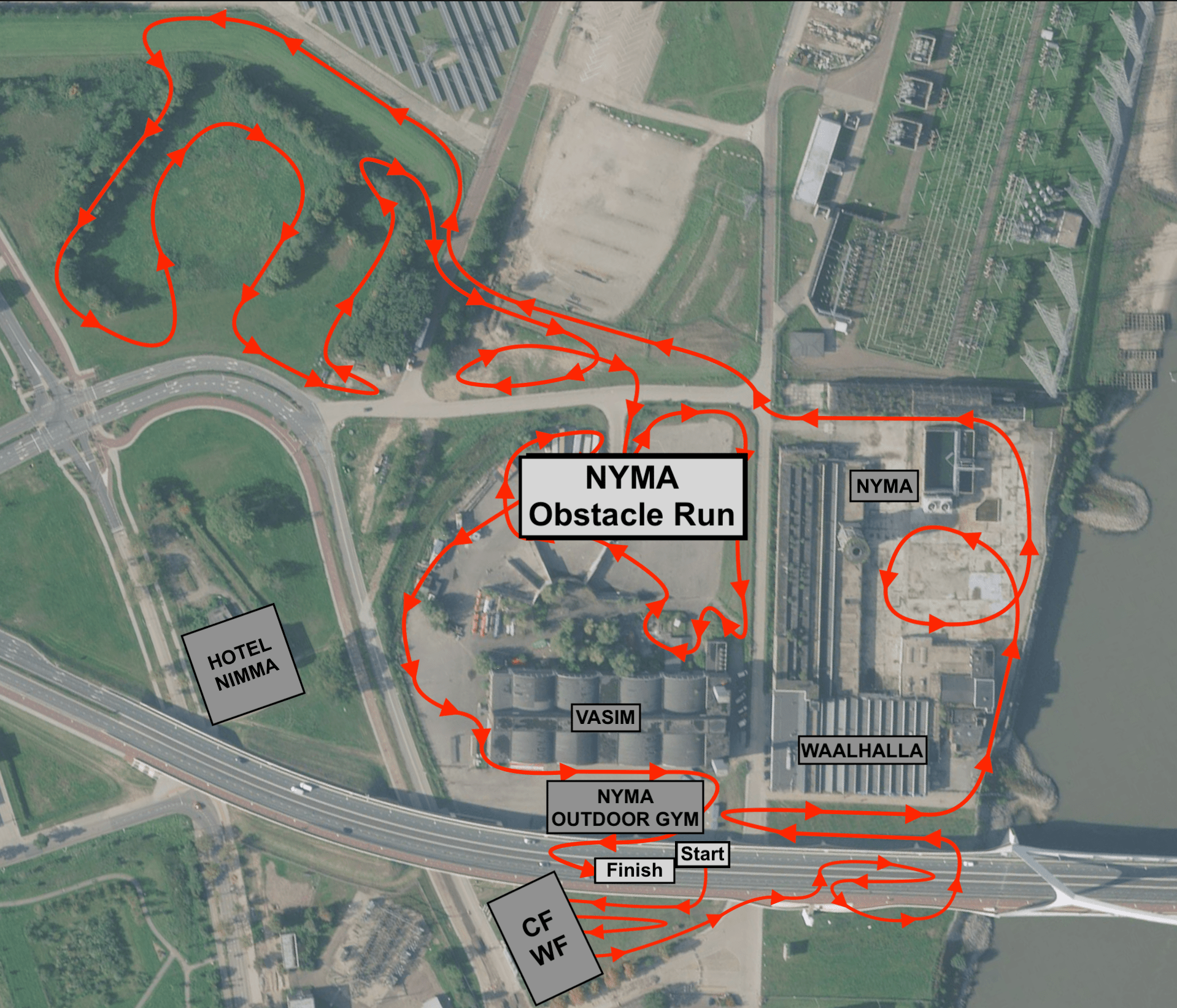 NYMA Obstacle Run - Route
